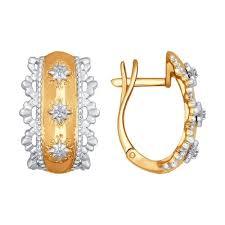 <b>Серьги</b> из комбинированного <b>золота SOKOLOV</b> – купить в ...