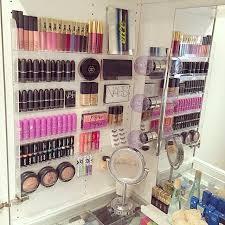 diy makeup vanity storage gorgeous makeup display using a nail polish rack makeup storage organi