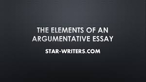 essay helper the elements of an argumentative essay essay helper the elements of an argumentative essay
