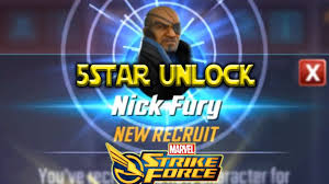5 Star Nick Fury Unlocked - Marvel Strike Force - MSF - YouTube