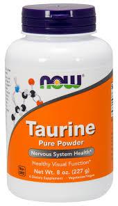 NOW Supplements, <b>Taurine Pure Powder</b>, Nervous System Health ...
