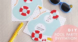 diy pool party invitation tutorial template design is diy pool party invitation tutorial template design is yay party printable paper craft