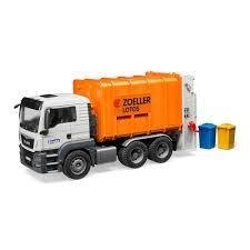 <b>Машинка</b> игрушечная <b>Мусоровоз</b> МАН Bruder бело-оранжевый ...