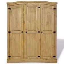 Nishore Wood Armoire <b>Wardrobe</b>, Large Bedroom Closet <b>Wardrobe</b> ...