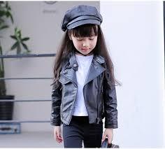 <b>Girls Pu Jacket Rivet</b> Zipper Cool Jacket Leather Clothing For Girls 5 ...