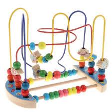 <b>Fun</b> Wooden Circle <b>Bead Maze</b> Rollercoaster Cogniton <b>Puzzle</b> Early ...