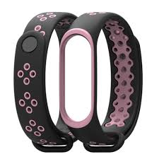 Air Permeable Mijobs Mi Band 4 Sport Strap Silicone <b>Bracelet For</b> ...