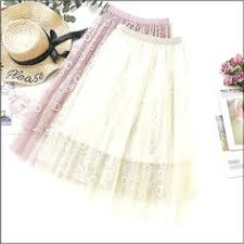 <b>Wasteheart Spring</b> Khaki Blue <b>Pink</b> Women Skirts A-Line Mid-Ca ...