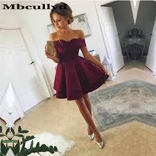Mbcullyd Red Satin Short <b>Homecoming</b> Dress 2019 <b>Sexy</b> Spaghetti ...
