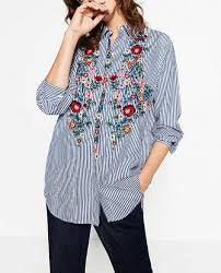 2017 <b>New Spring Autumn Women</b> Blouse Flower Embroidery Long ...