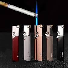 Torch Turbo Thin Lighter <b>Compact Butane</b> Gas <b>Jet</b> Flame Lighters ...