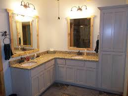 shaped bathroom cabinet custom