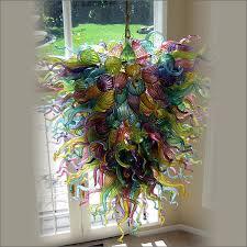 Custom Decorative Hanging Glass Chain <b>LED</b> Decorative Italy ...