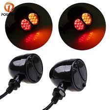 POSSBAY 2 Pcs <b>Motorcycle LED Turn</b> Signal Light 10mm Bolt <b>12V</b> ...