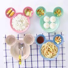 3pcs/set <b>Cartoon</b> Car <b>plate</b> kids <b>dishes</b> Children's <b>Wheat Straw</b> ...
