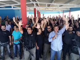Resultado de imagem para agentes penitenciario do en em greve fotos