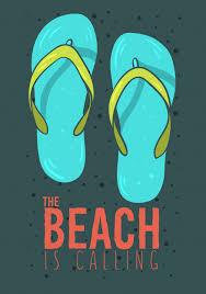 Premium Vector | <b>Beach summer</b> poster design with flip flops ...