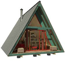 DIY a frame small house plans   Pin Up HousesSale  a frame house plans   porch and loft