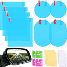 8 <b>Pieces Car Rearview</b> Mirror Film Anti Fog Glare Rainproof ...