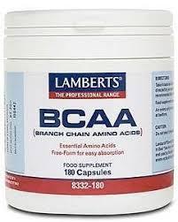 Lamberts BCAA Branch Chain <b>Amino Acids 180 Capsules</b>