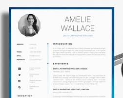 professional cv templates   resume templates   by introduiceresume template   cv template   single page professional cv   cover letter  amp  advice   printable cv for word   the  quot strand quot  creative resume