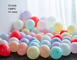 GAKA Pastel Balloons <b>100 pcs 10 inch</b> Pastel <b>Color</b> Balloons ...