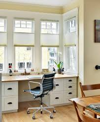 beautiful spaces transitional home office idea in boston with a built in desk beautiful relaxing home office