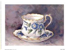ArtWall Barbara Mock's Pansy Teacup, Gallery Wrapped <b>Canvas</b> ...