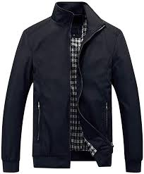 YOUTHUP <b>Mens Jacket</b> Casual Stylish Bomber Coat Lightweight ...