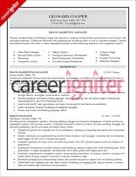brand manager resume sample   career igniterbrand manager resume sample