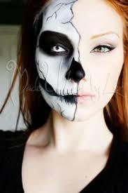 costume half skull face makeup facepainting skulls easy makeup skull half skull makeup skull makeup