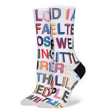Купить <b>носки</b> высокие женские <b>Stance Libertine Love</b> Letters Multi ...