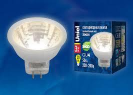 <b>LED</b>-<b>MR11</b>-<b>3W</b>/<b>WW</b>/<b>GU4</b>/<b>220V</b> GLZ21TR <b>Лампа</b> светодиодная ...