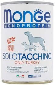 <b>Monge Monoprotein Solo</b> Turkey Wet Food for <b>Dogs</b> 12 x 400 g ...
