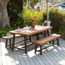 patio dining: carlisle rustic metal  piece outdoor dining set by christopher knight home