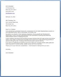 sample cover letter sales sales sample cover letter for sales