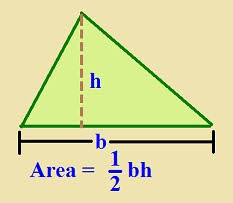 Image result for area of triangle