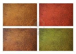 Échantillons De Grain Cuir En Rouge, Brun, Vert, Jaune Isolé Sur ... - 13355164-echantillons-de-grain-cuir-en-rouge-brun-vert-jaune-isole-sur-fond-blanc