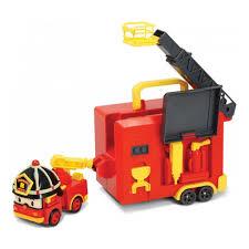 <b>Robocar Poli Кейс</b> с трансформером Рой 12,5см с гаражом ...