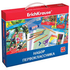 <b>Набор</b> для <b>первоклассника</b> в подарочной упаковке <b>ERICH</b> ...