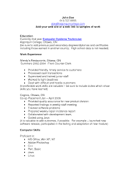 sample computer technician resume template resume sample information sample resume example resume template for computer systems technician work experience sample computer