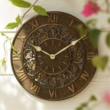 outdoor decor thermometer clocks decorative clock