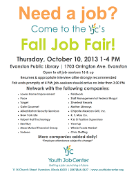 jobs evanston families job fair flyer