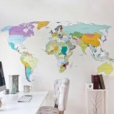 <b>Wall Decal</b> - World <b>Map</b> interactive <b>map</b> - Wall <b>Sticker</b> Room Decor ...