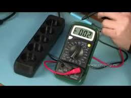 Проведение измерений с помощью мультиметра - YouTube