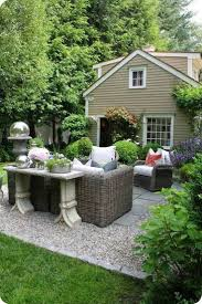 working creating patio: pea gravel patio with paver and furniture inexpensive pea gravel