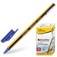 """Ручка шариковая <b>BRAUBERG</b> """"Jax"""", корпус черно-желтый, узел 0 ..."""