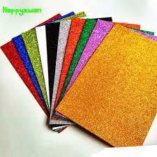 Happyxuan 10pcs/pack 20*30cm <b>Eva</b> Foam Glitter A4 Gold <b>Powder</b> ...