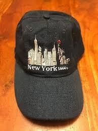 NEW YORK NYC 1664 One Size Strapback <b>Curved Brim Dad Hat</b> ...