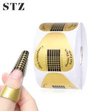 STZ 50pcs/Set Professional <b>Nail</b> Art <b>Form</b> French Tips Mold UV Gel ...